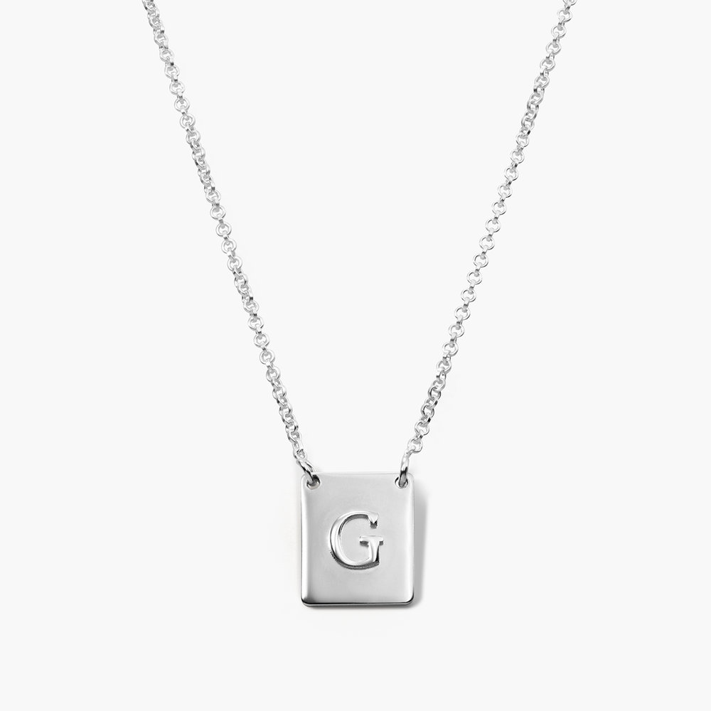 Pop Up Initial Necklace - Silver