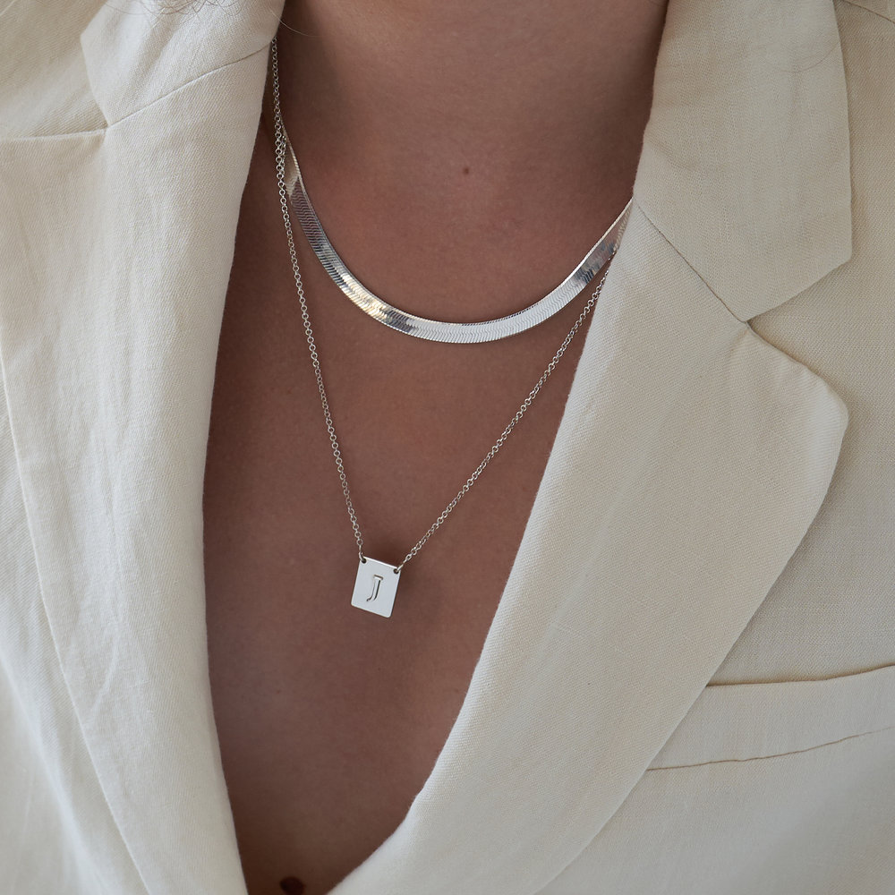 Pop Up Initial Necklace - Silver - 3