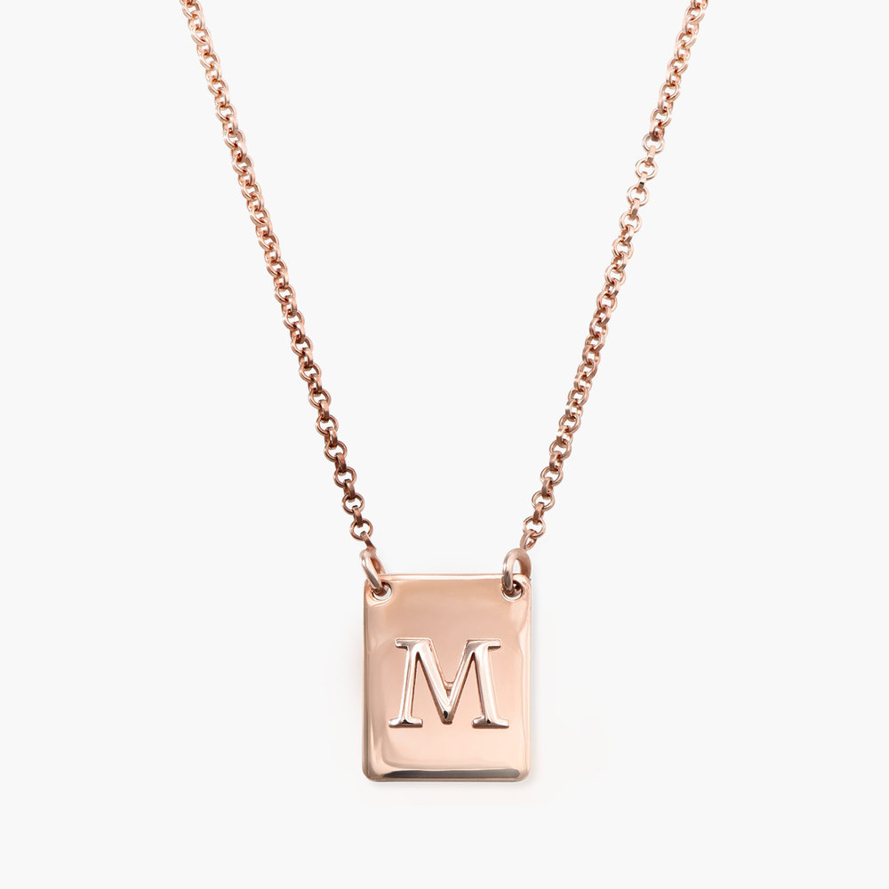 Pop Up Initial Necklace - Rose Gold Plated