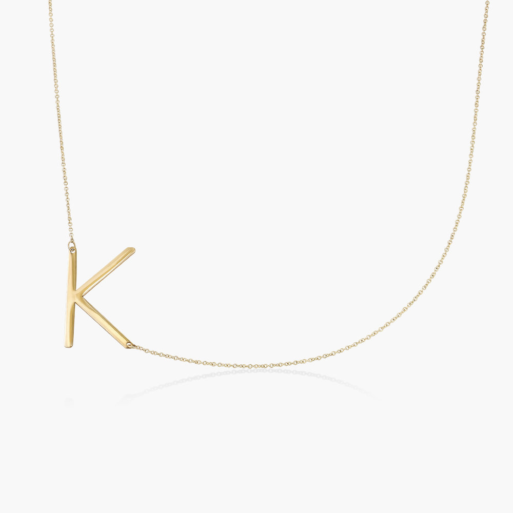 Initial Necklace - 14k Yellow Gold