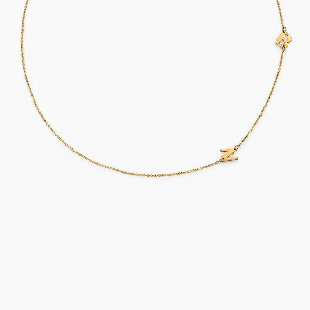 Mini Initial Necklace - 14k Yellow Gold
