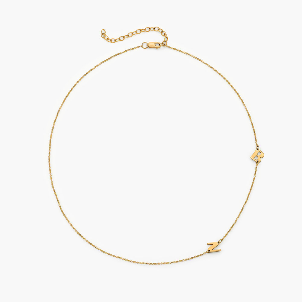 Mini Initial Necklace - 14k Yellow Gold - 1
