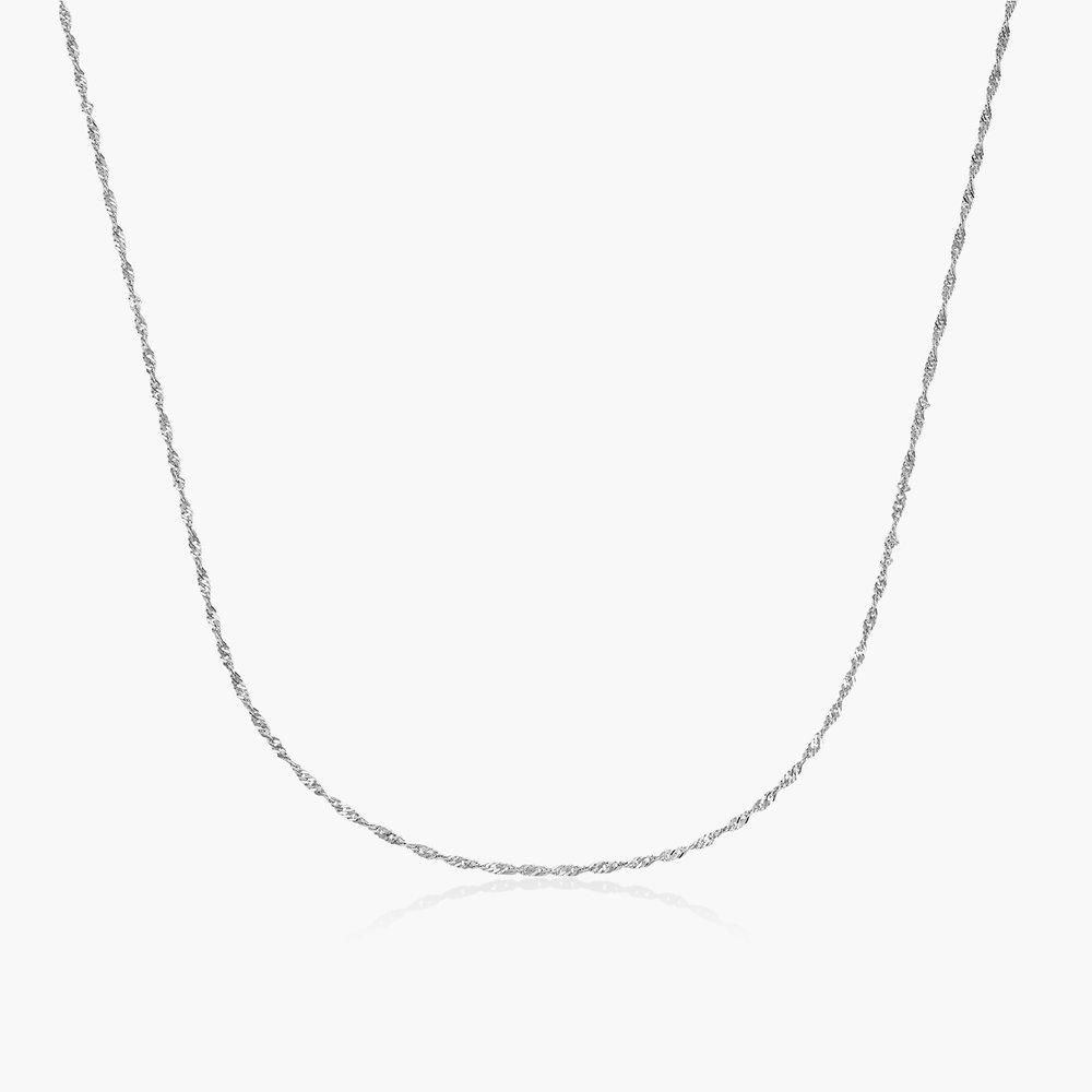 Twist Chain Necklace- 14K White Gold