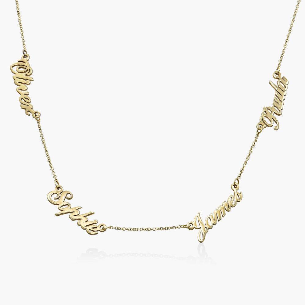Multiple Name Necklace - 14K Solid Gold