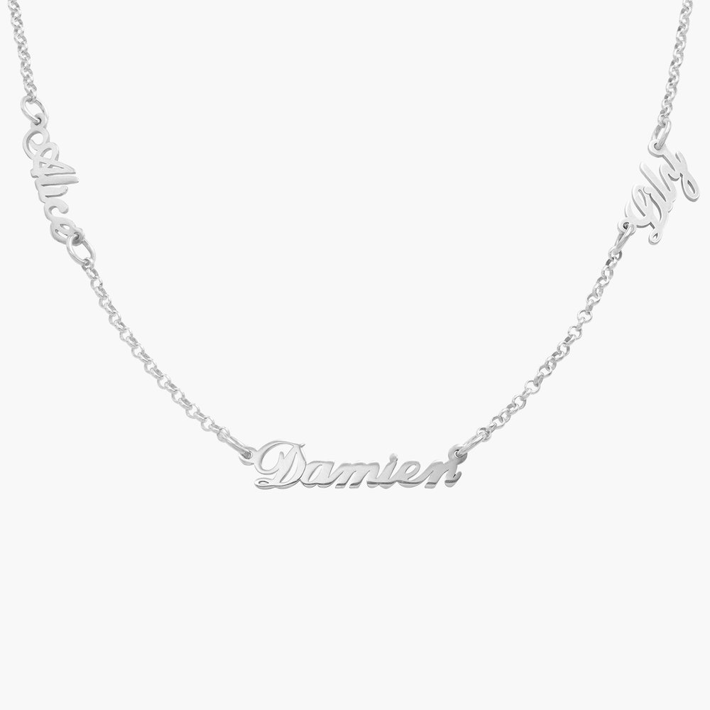 Multiple Name Necklace - Silver