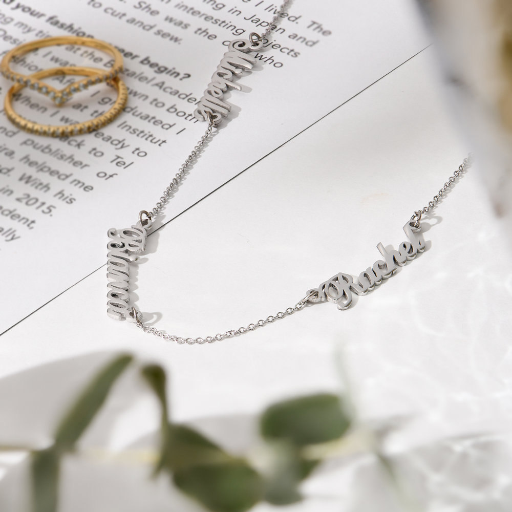 Multiple Name Necklace - Silver - 1