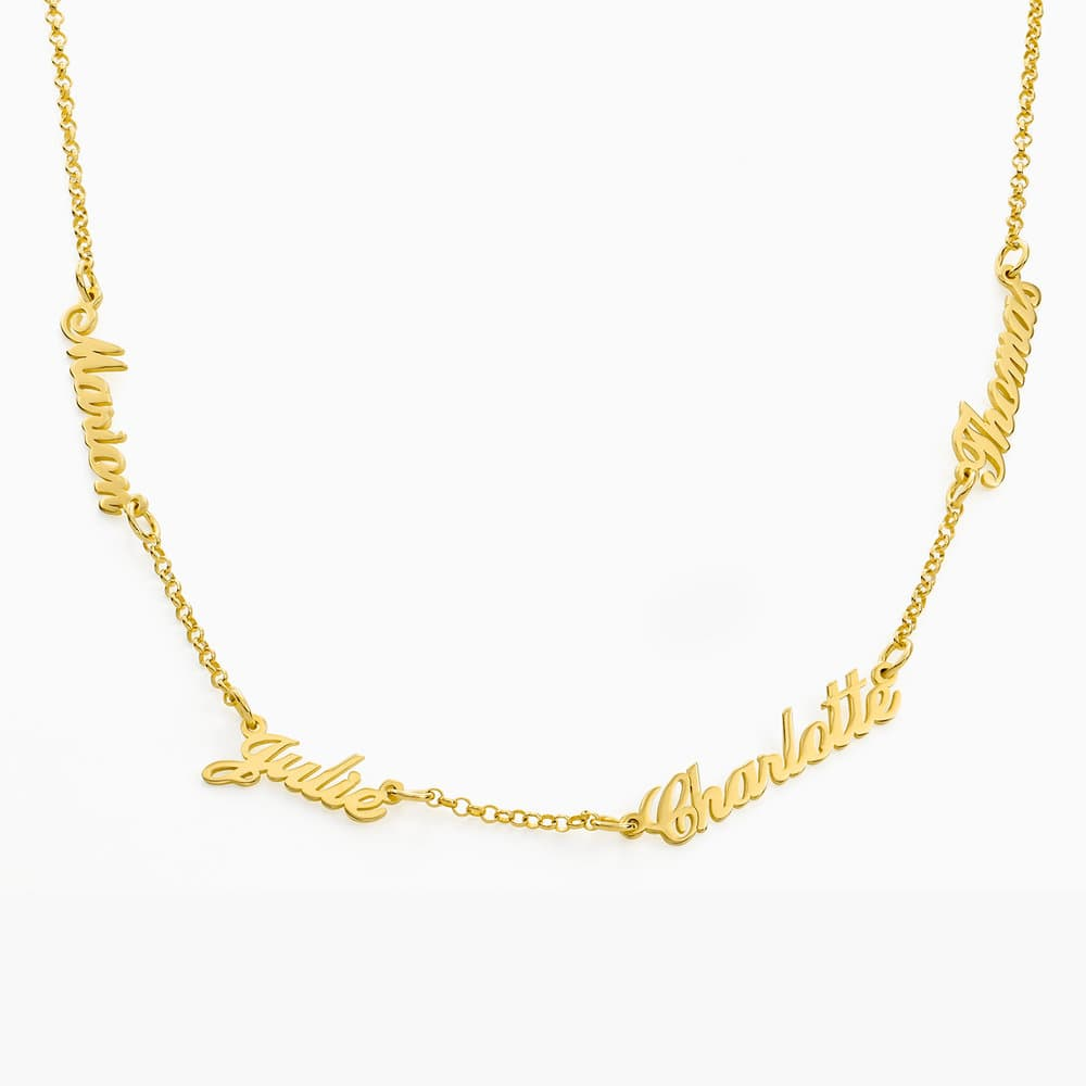 Multiple Name Necklace - Vermeil Gold Plated