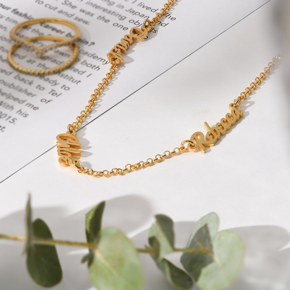 Multiple Name Necklace - Vermeil Gold Plated - 1