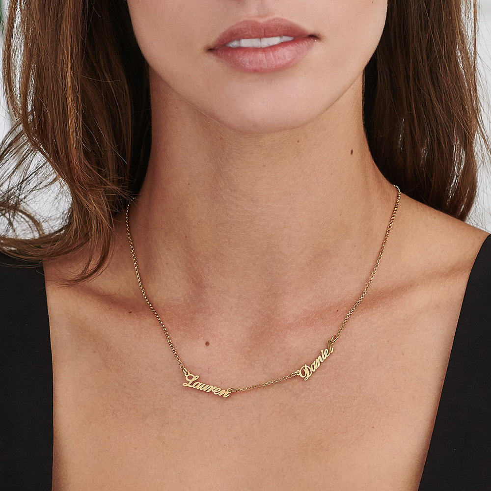 Multiple Name Necklace - Vermeil Gold Plated - 2