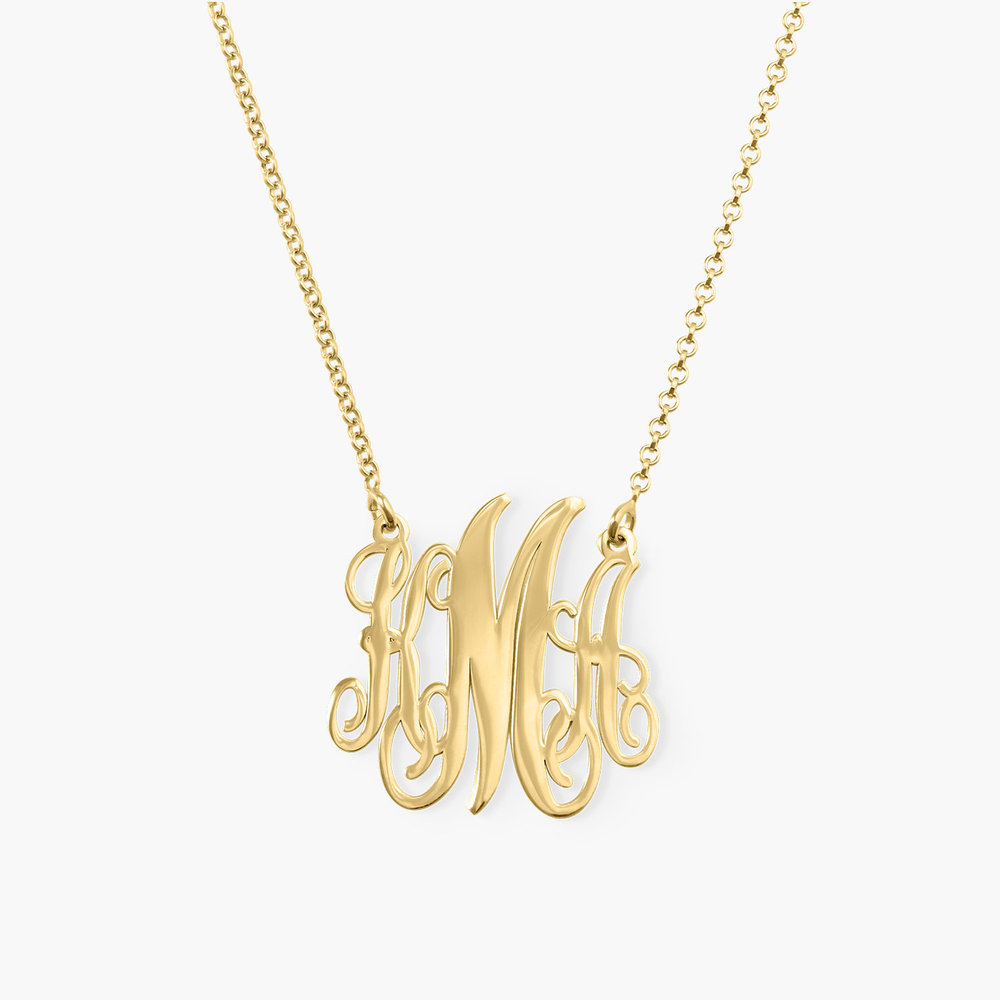 Monogram Necklace - Gold Plated
