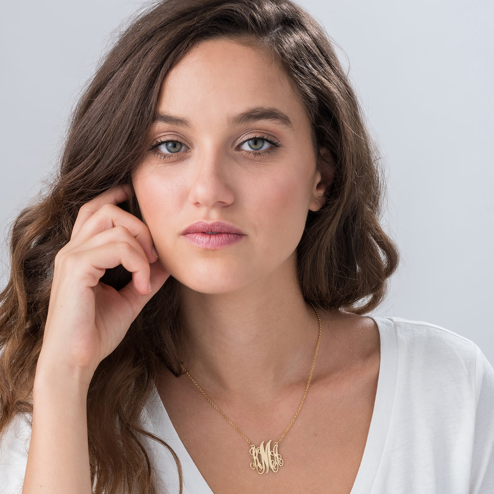 Monogram Necklace - Gold Plated - 1