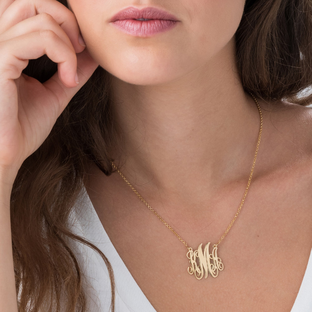 Monogram Necklace - Gold Plated - 2