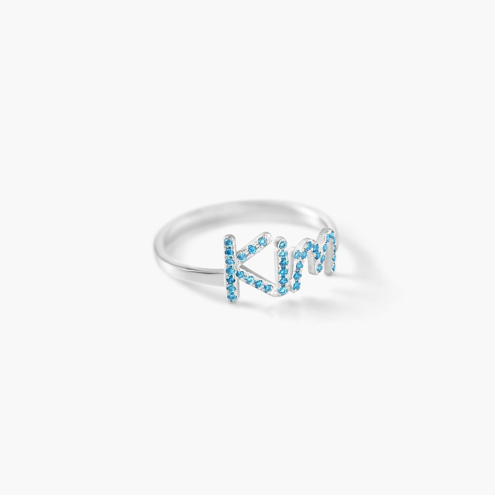 Pixie Name Ring with Cubic Zirconia - Silver - 1