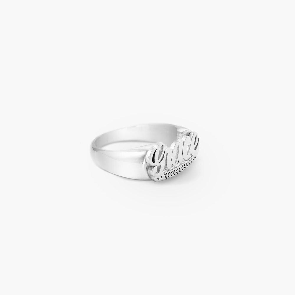 Throwback Name Ring - Silver - 1