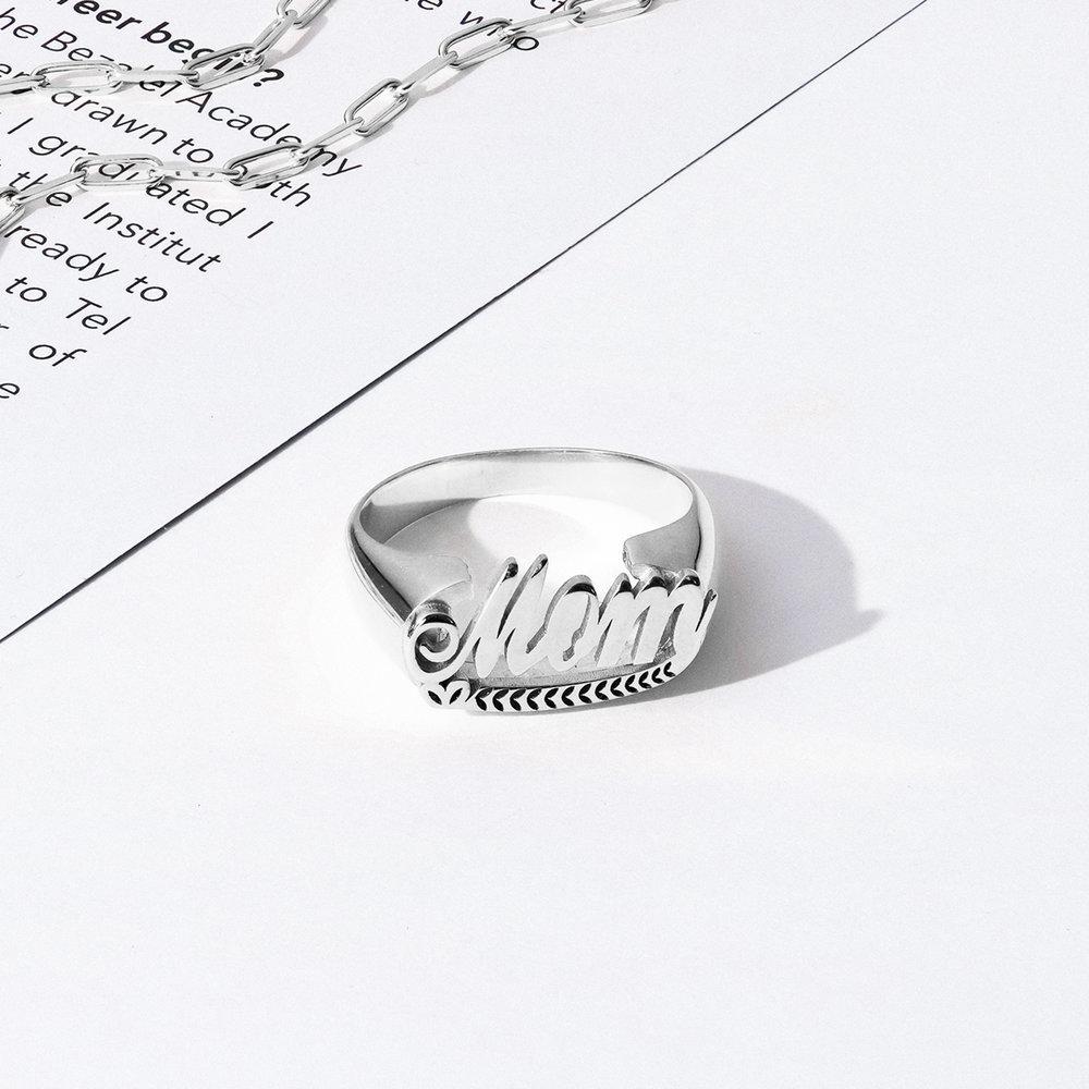 Throwback Name Ring - Silver - 2