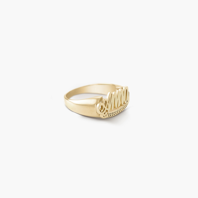 Throwback Name Ring - Gold Plated - 1