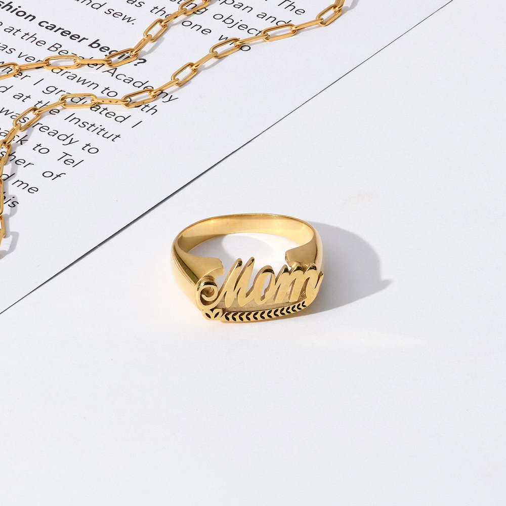 Throwback Name Ring - Gold Plated - 2