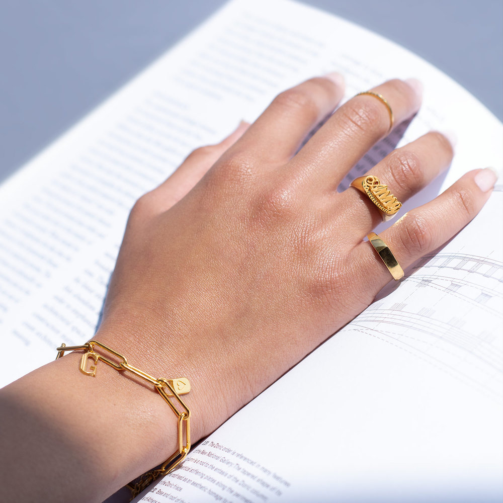 Throwback Name Ring - Gold Plated - 3