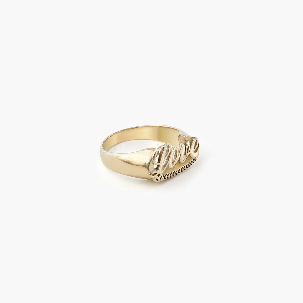 Throwback Name Ring - 10k Yellow Gold - 1