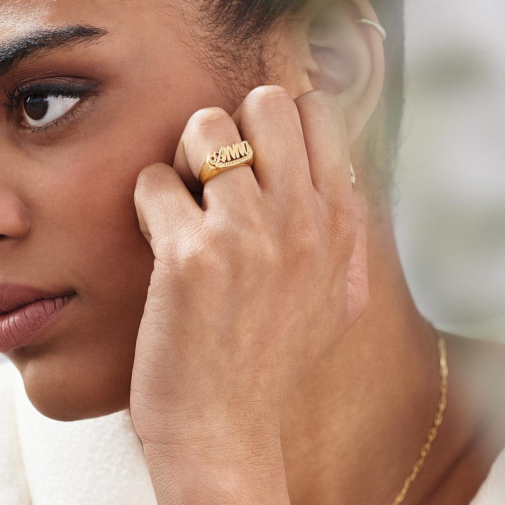 Throwback Name Ring - 10k Yellow Gold - 4