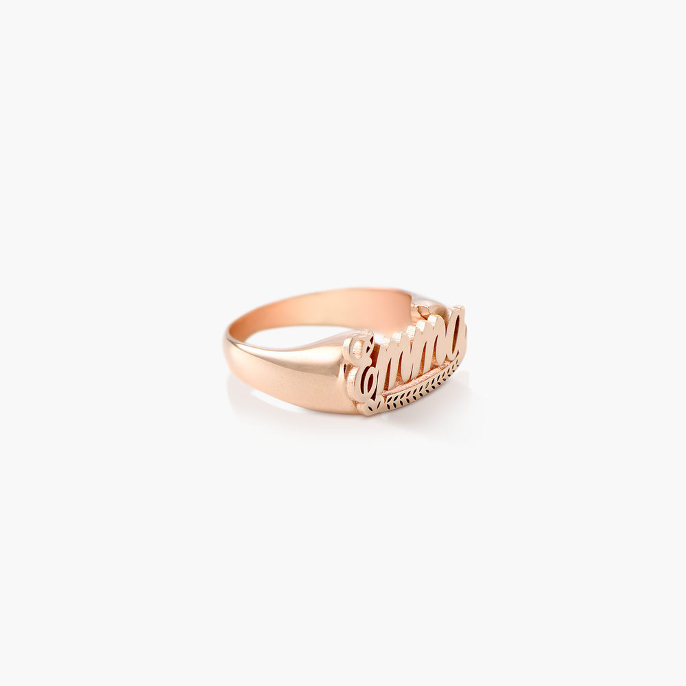 Throwback Name Ring - Rose Gold Plated - 1