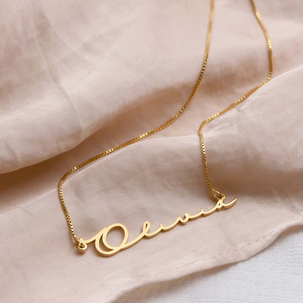 Mon Petit Name Necklace - 14K Yellow Gold - 1