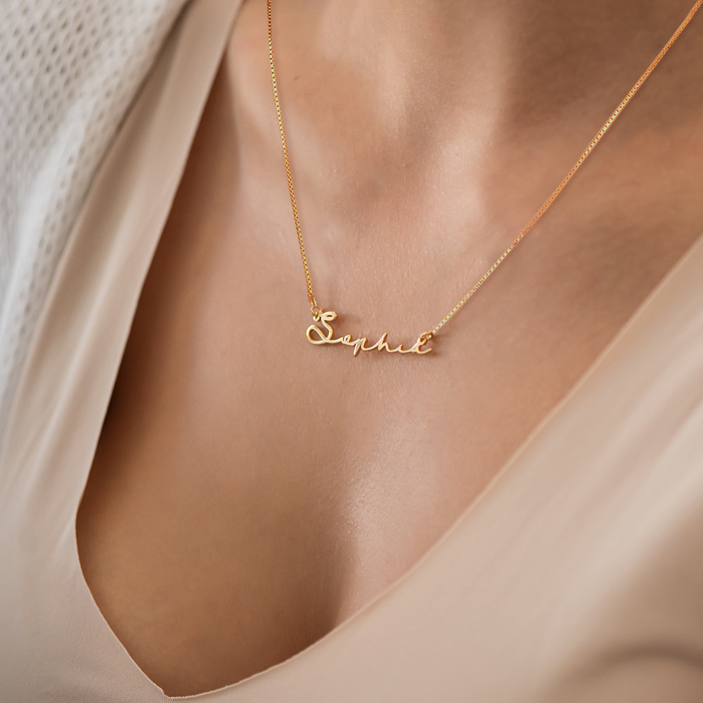 Mon Petit Name Necklace - 14K Yellow Gold - 3