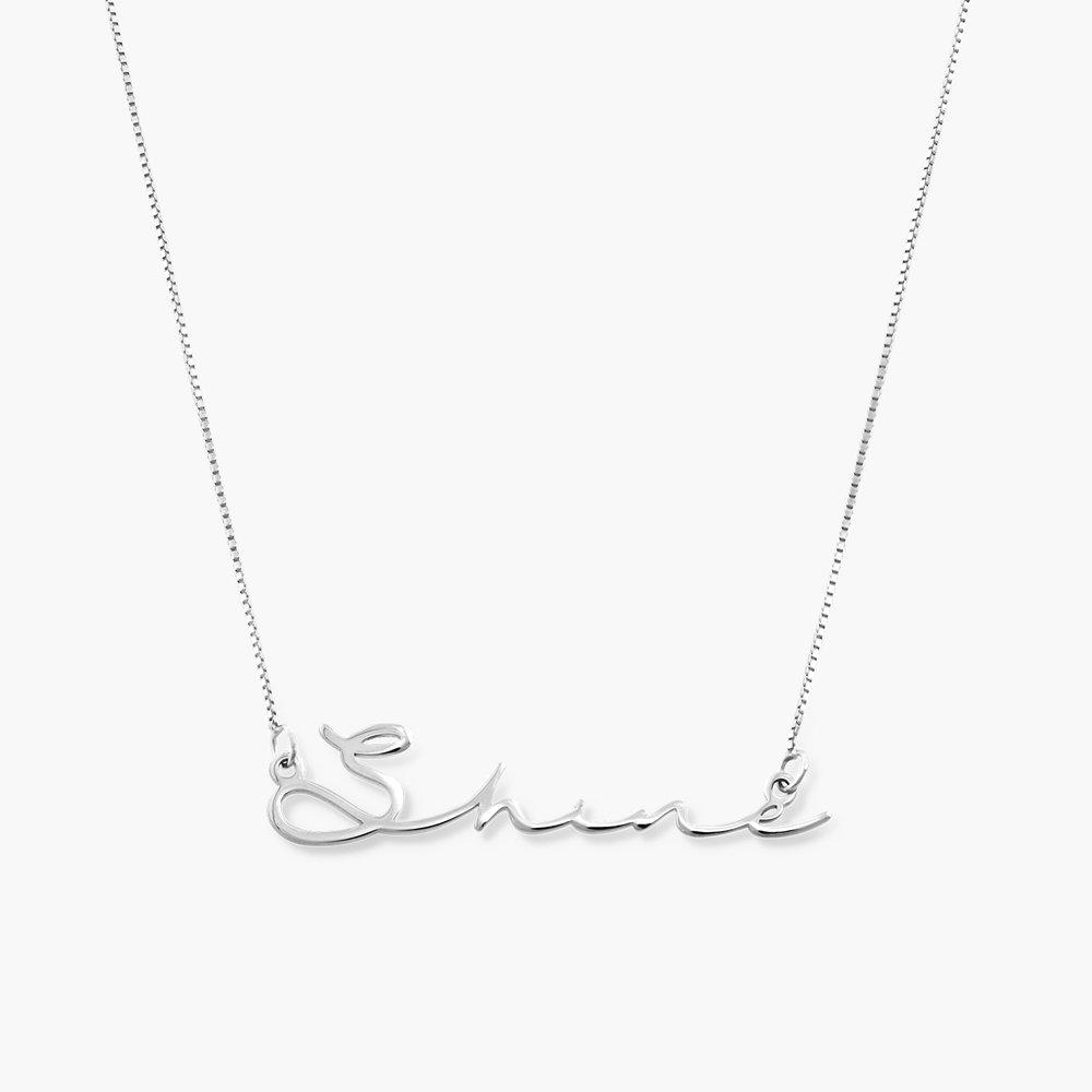 Mon Petit Name Necklace - 14k White Gold - 1