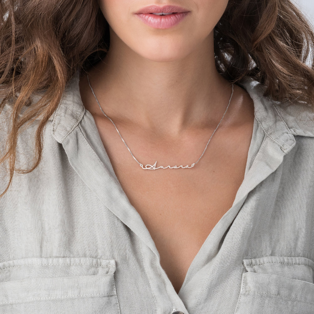 Mon Petit Name Necklace - 14k White Gold - 4