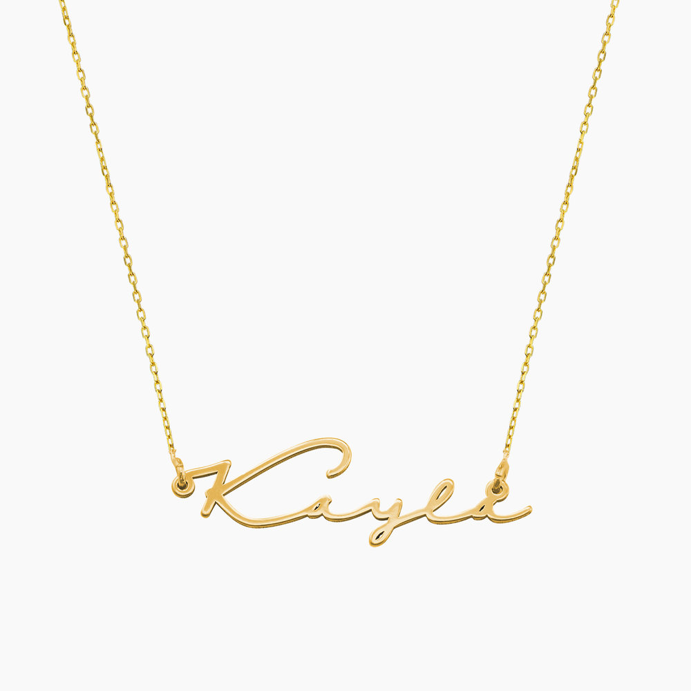 Mon Petit Name Necklace - 10k Gold