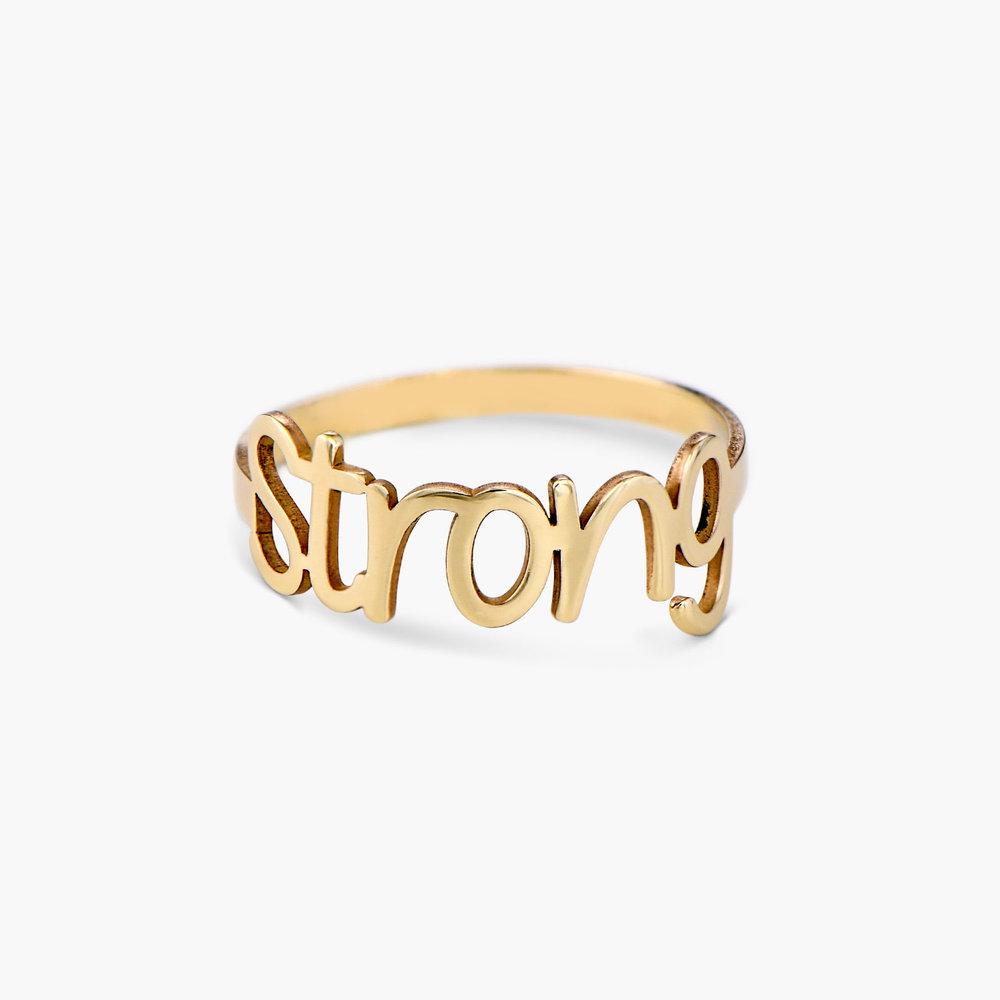 Pixie Name Ring - 10K Gold