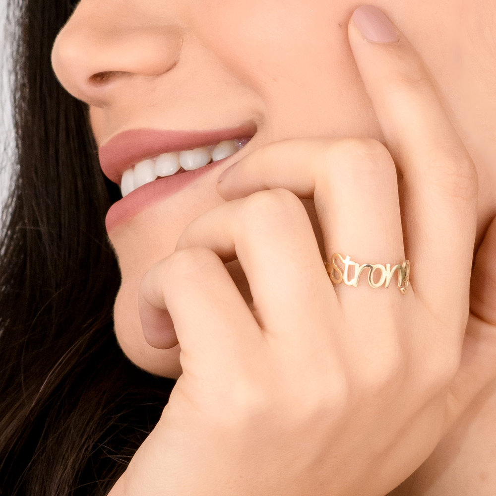 Pixie Name Ring - 10K Gold - 3