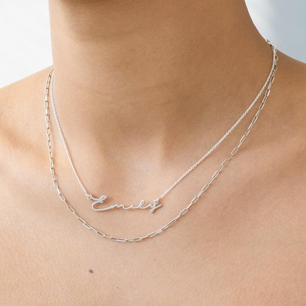 Mon Petit Name Necklace - Silver - 2