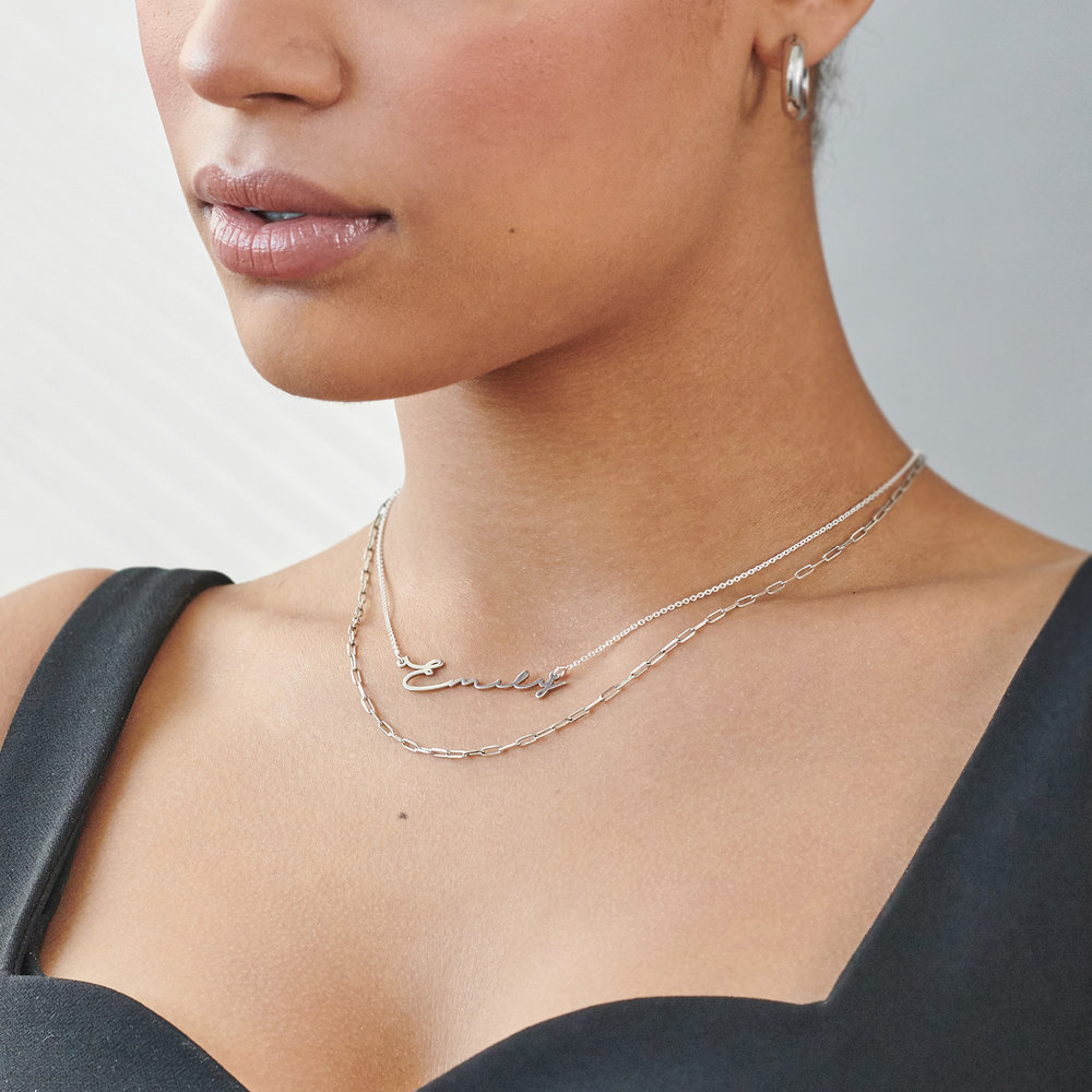Mon Petit Name Necklace - Silver - 4