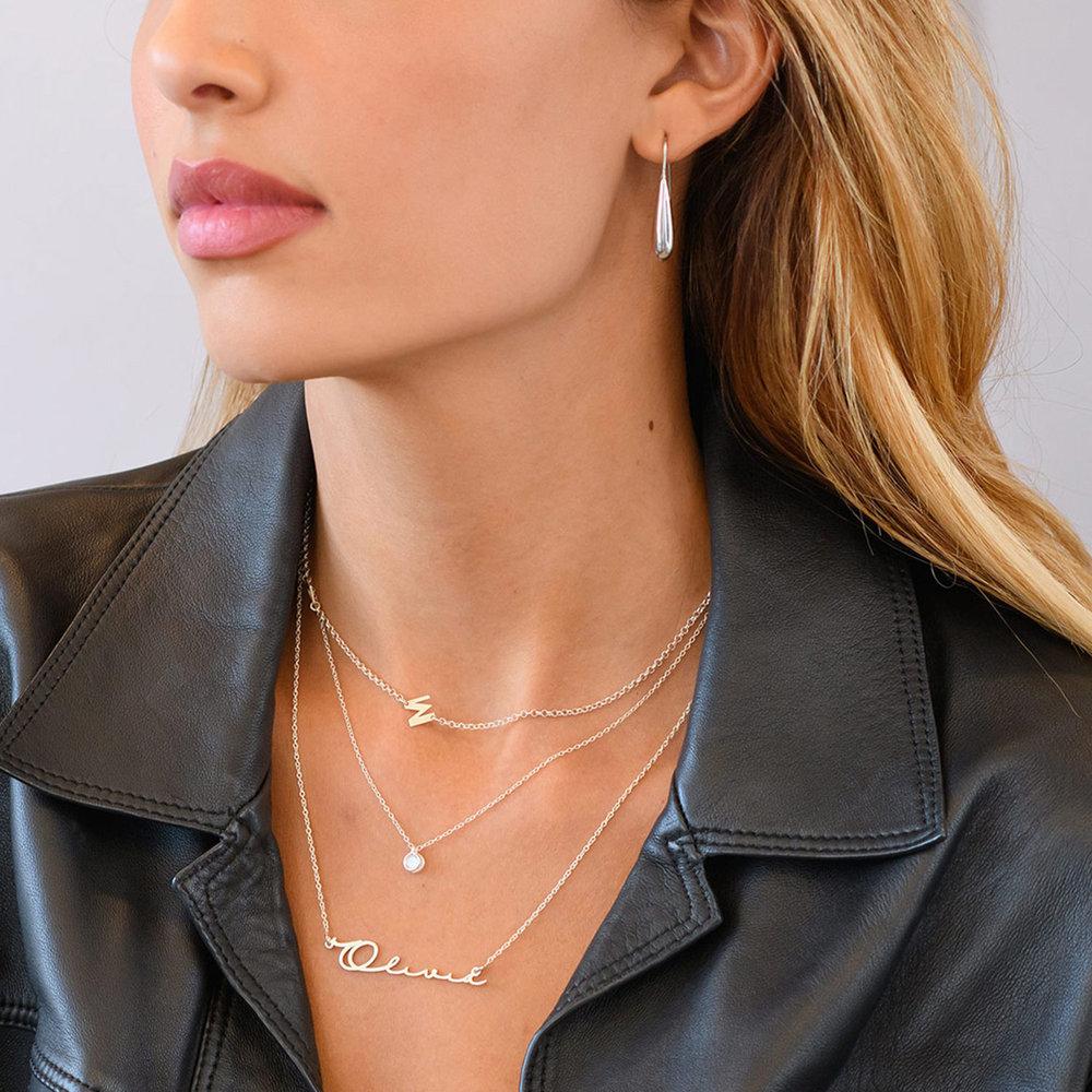 Mon Petit Name Necklace - Silver - 5