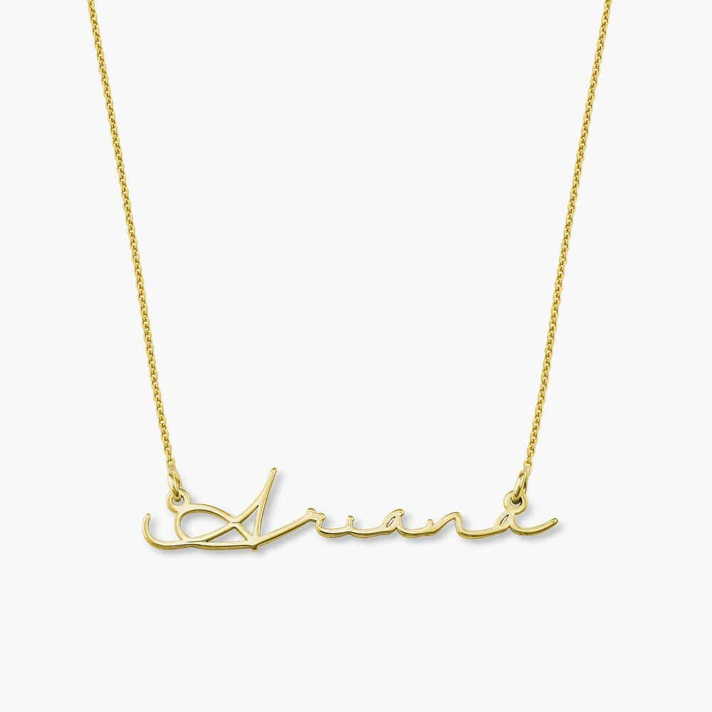 Mon Petit Name Necklace - Gold Plated