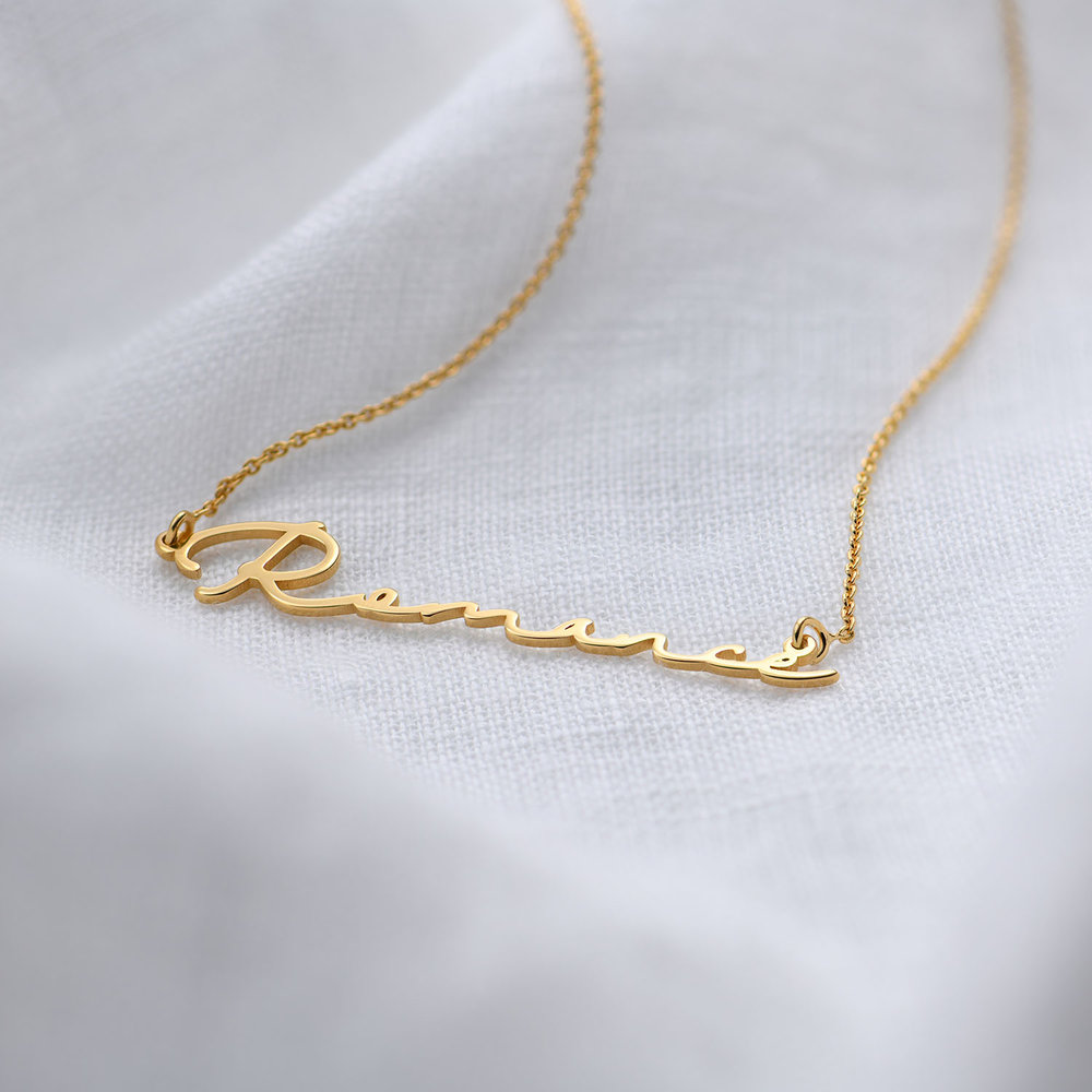Mon Petit Name Necklace - Gold Plated - 1