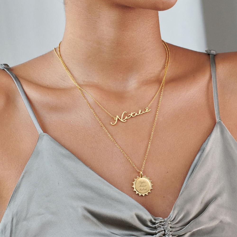 Mon Petit Name Necklace - Gold Plated - 4