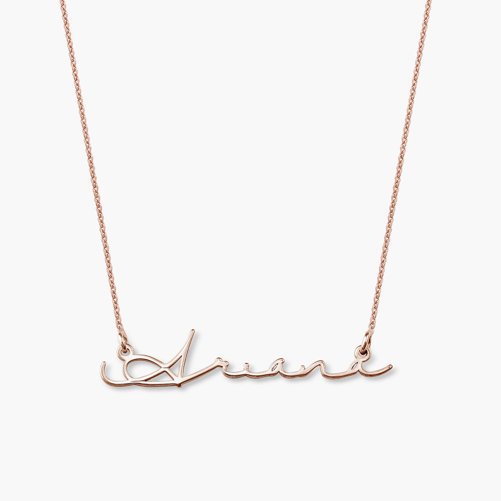 Mon Petit Name Necklace - Rose Gold Plated
