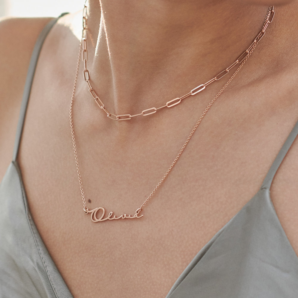Mon Petit Name Necklace - Rose Gold Plated - 3