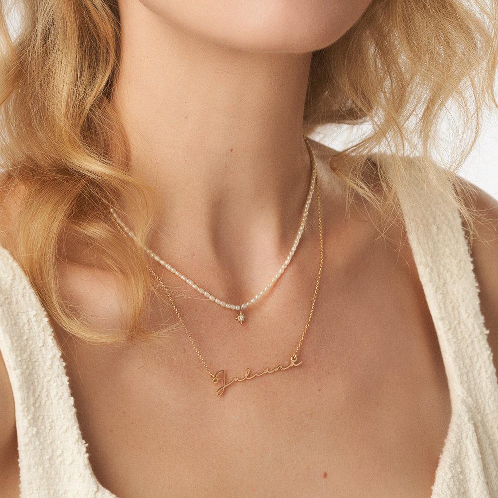Mon Petit Name Necklace - Vermeil Gold Plated - 1