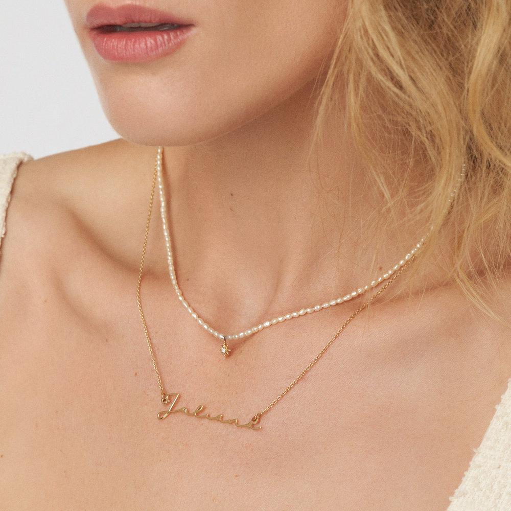 Mon Petit Name Necklace - Vermeil Gold Plated - 2
