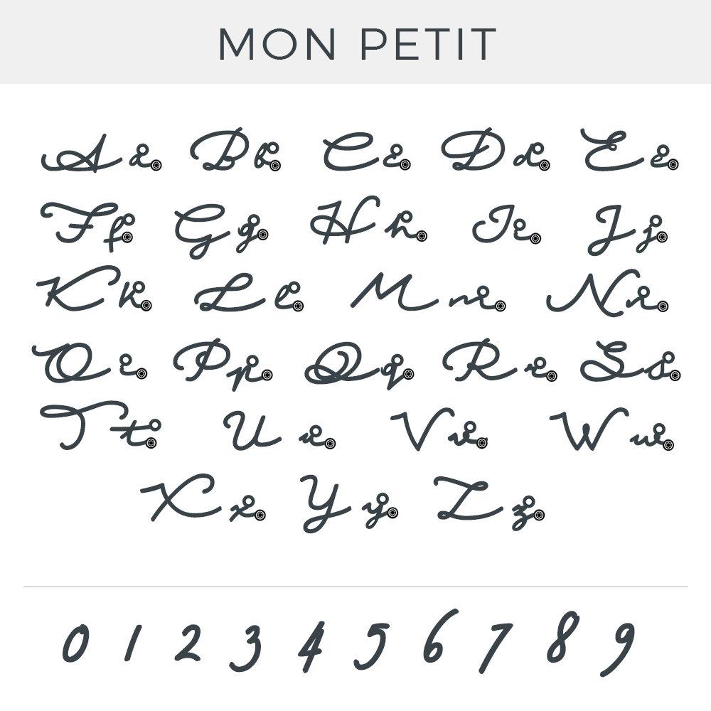 Mon Petit Name Necklace with Diamond - Gold Vermeil - 4