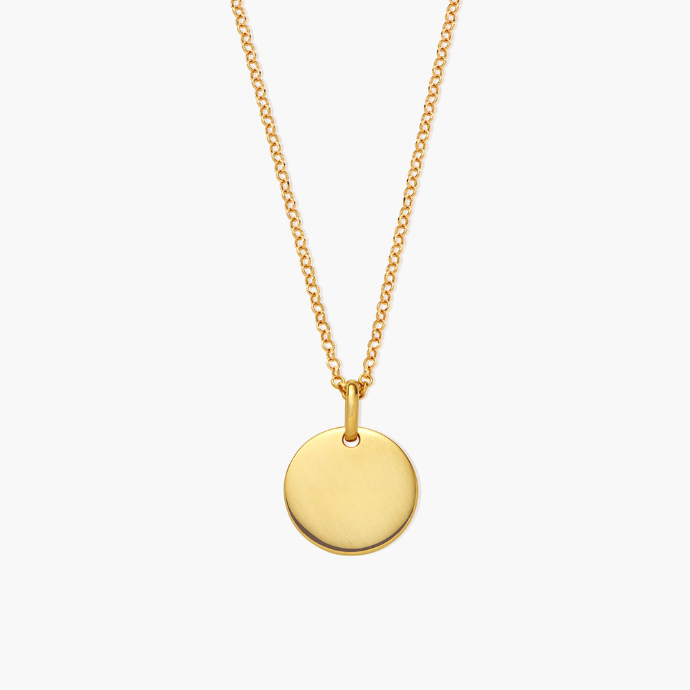 Luna Round Necklace - Gold Plated - 1
