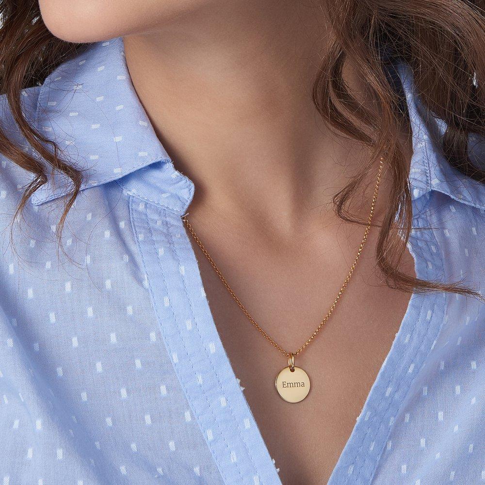 Luna Round Necklace - Gold Vermeil - 2