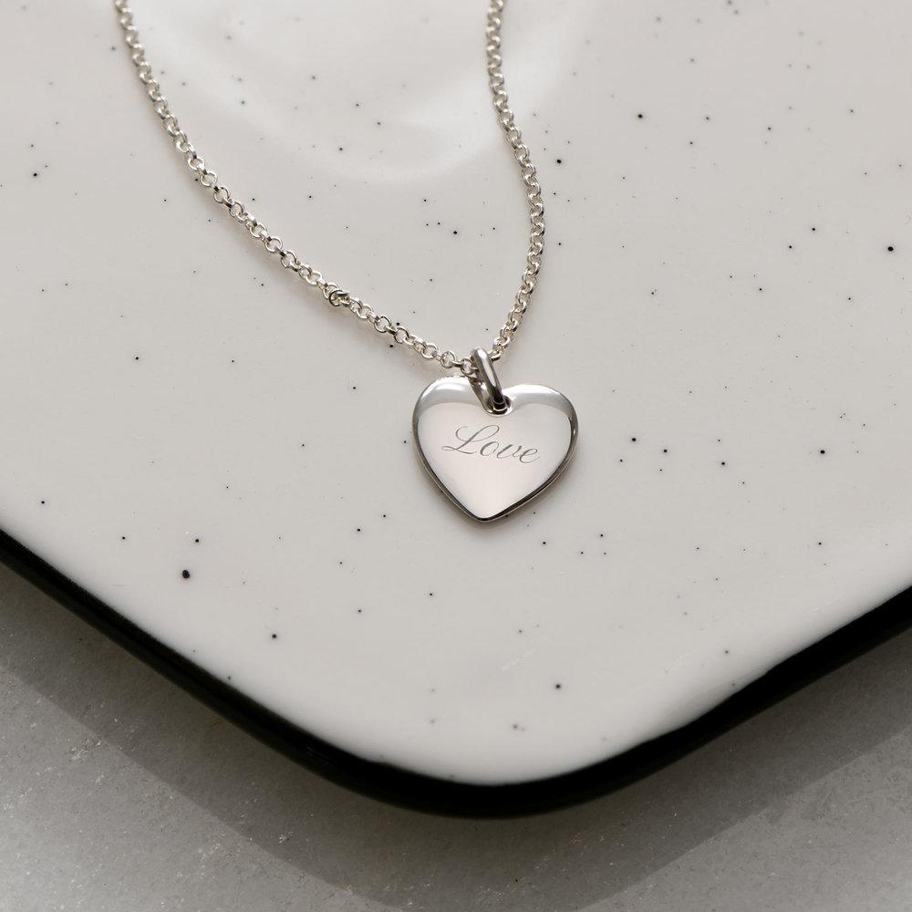Luna Heart Necklace - Silver - 1