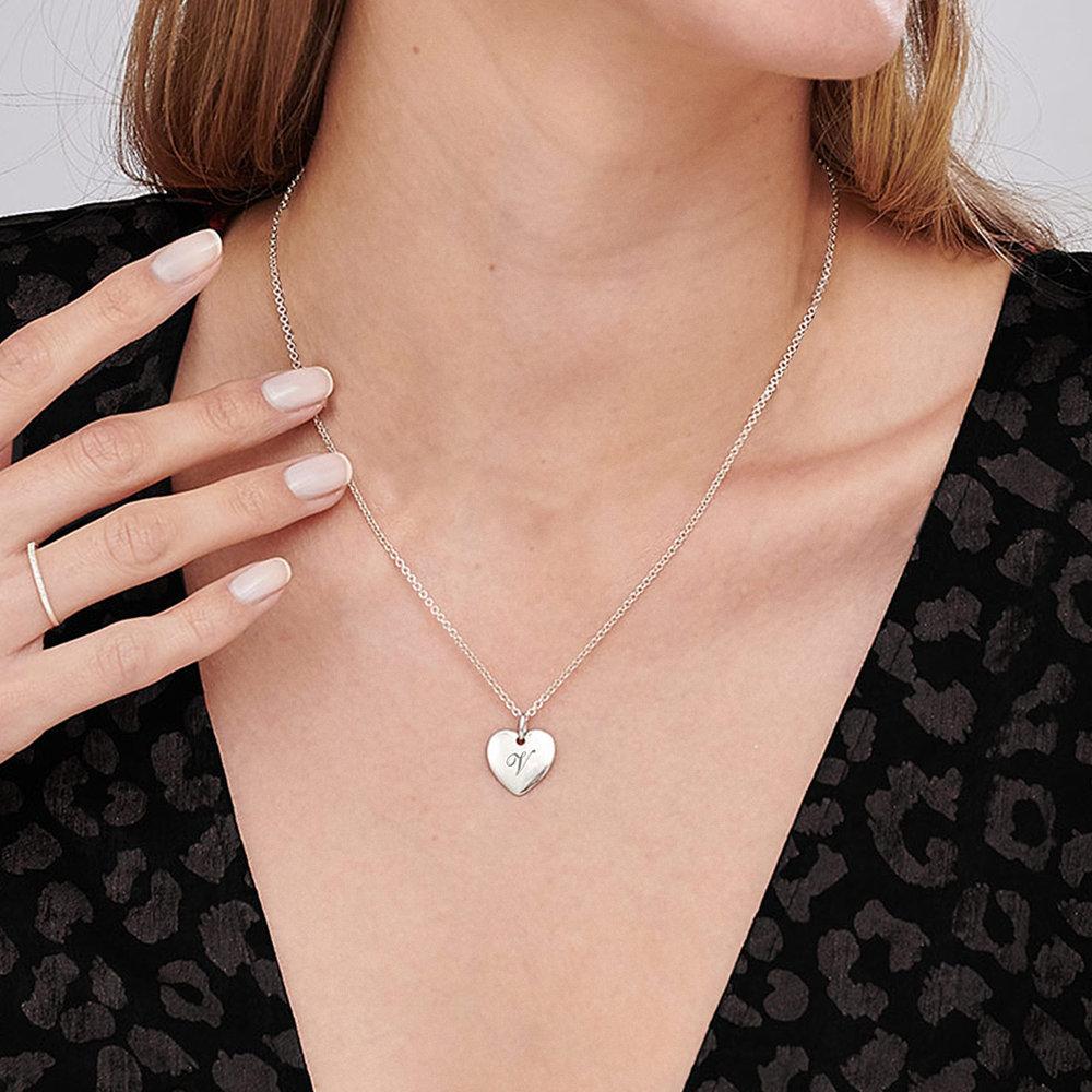 Luna Heart Necklace - Silver - 3