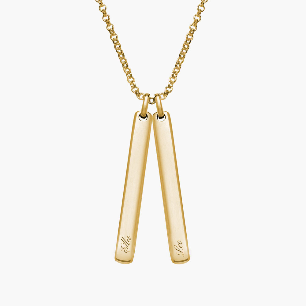 Luna Bar Necklace - Gold Plated - 1