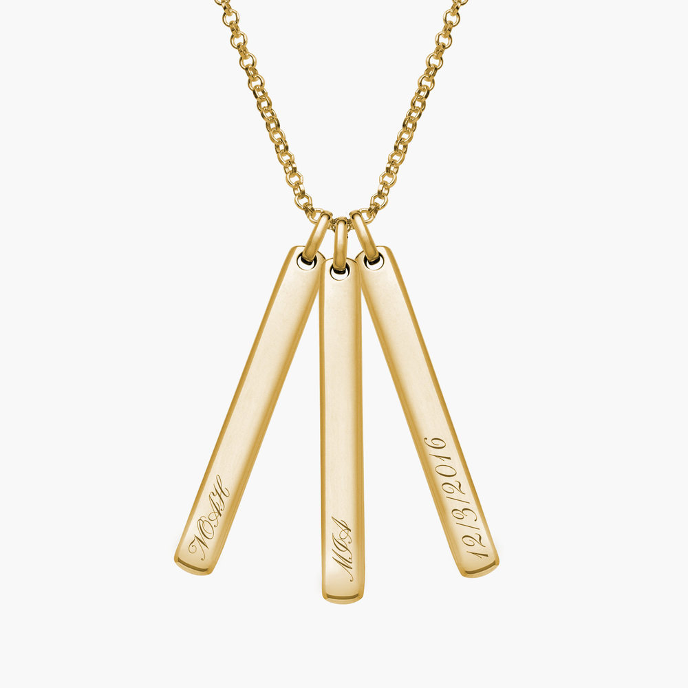 Luna Bar Necklace - Gold Plated - 2
