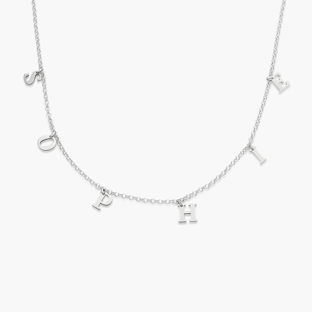 A to Z Name Choker - Silver